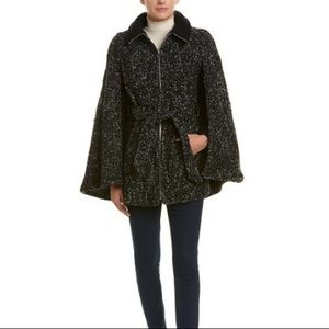 NWOT Laundry By Shelli Segal Tweed Belted Coat